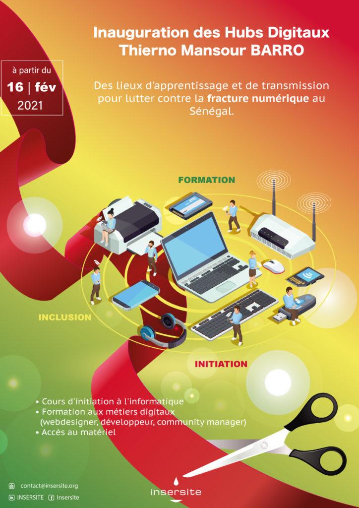 Inauguration des hubs digitaux Thierno Mansour BARRO (Sénégal)