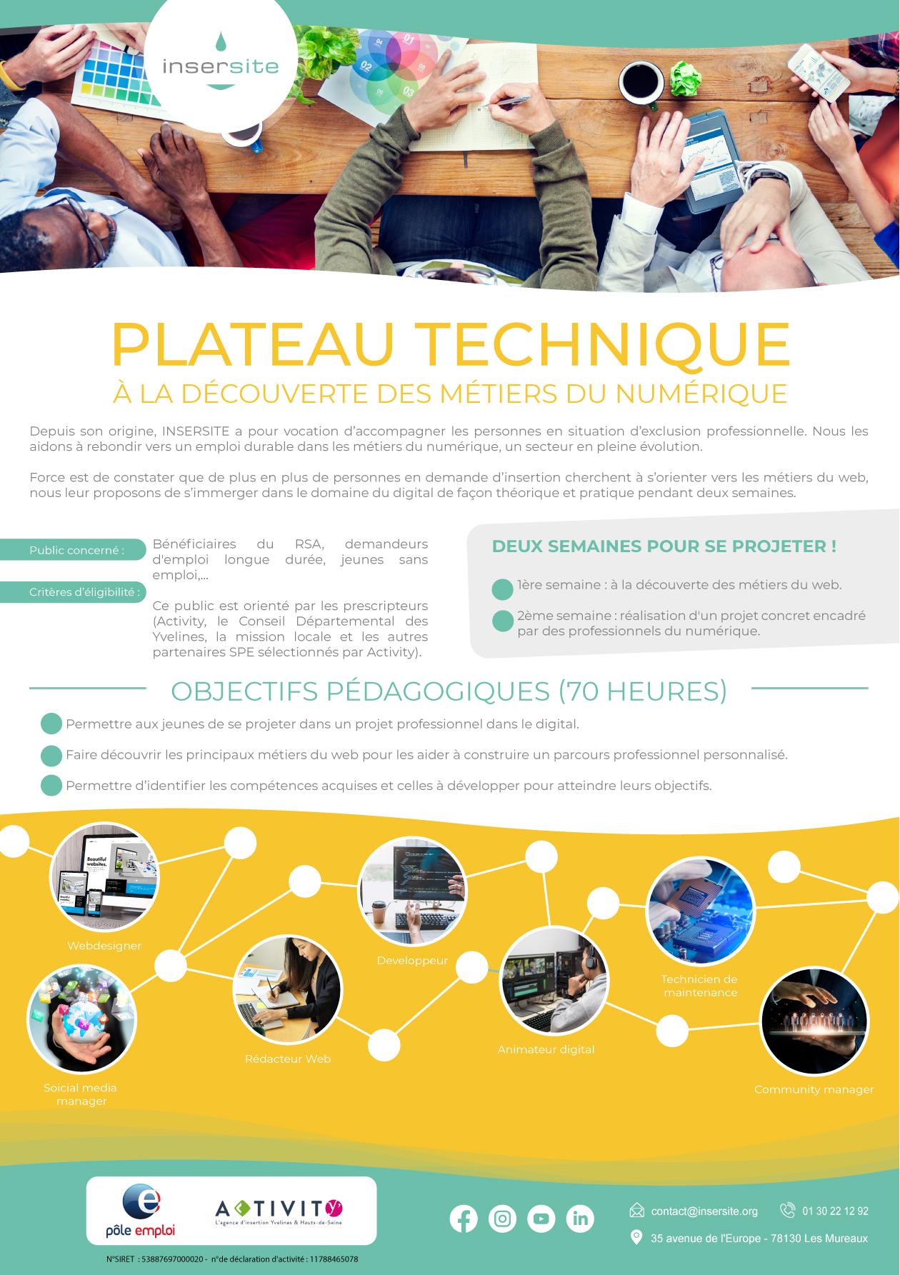 Plateau technique à la découverte des métiers du numérique